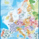 Carte Europe Codes Postaux magnétique