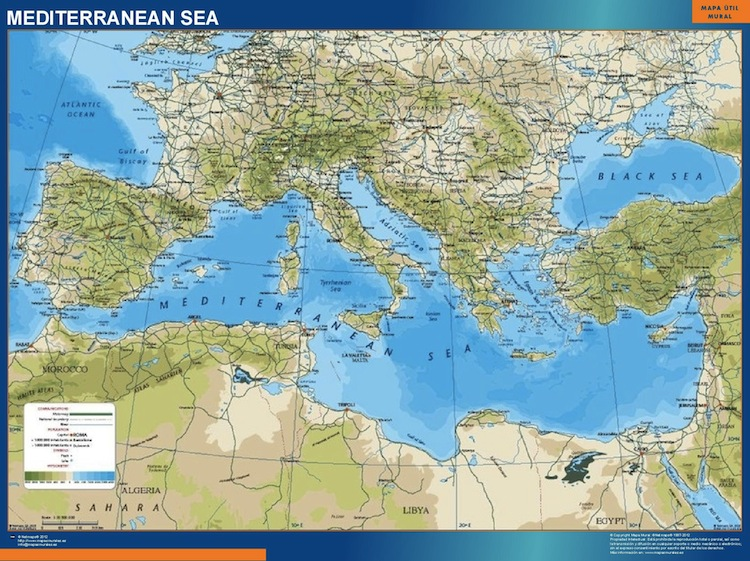mer méditerranée carte