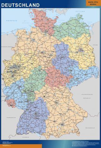 Carte Du Monde Plastifiee.Carte Plastifiee Allemagne Cartes Magnetiques France Et Monde