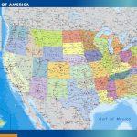 Carte magnétique Etats Unis